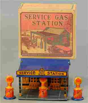 BOXED MARX SERVICE GAS STATION