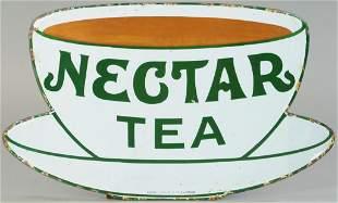 NECTAR TEA PORCELAIN ADVERTISING SIGN
