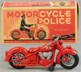 BOXED HUBLEY KIDDIE TOY MOTORCYCLE