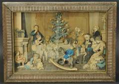 SCHOENHUT CHRISTMAS DAY MECHANICAL PICTURE