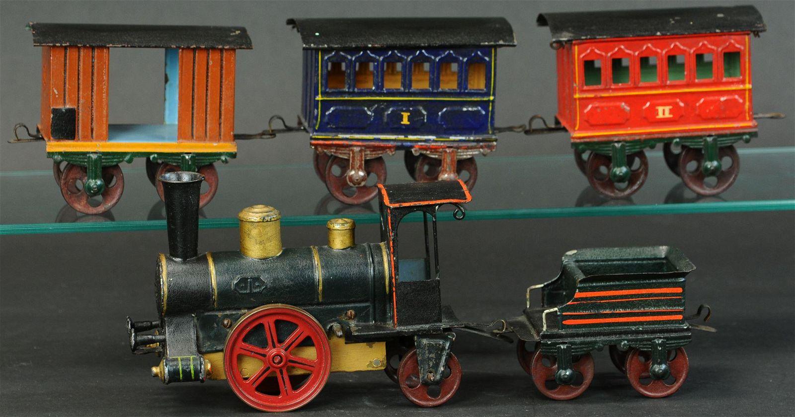 EARLY MARKLIN FLOOR TRAIN SET