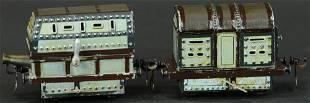 TWO MARKLIN ARMORED TRAIN CARS