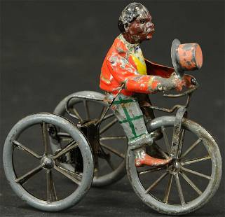 MULLER & KADEDER BICYCLIST TIPPING HAT TOY