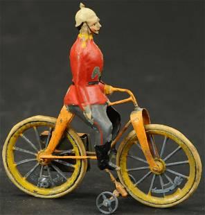 EUROPEAN TIN SOLDIER ON BICYCLE