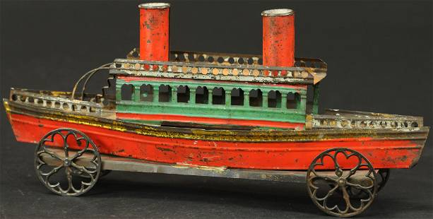 FRENCH STEAM BOAT FLOOR TOY