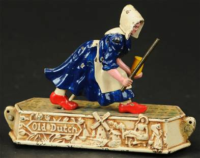 HUBLEY OLD DUTCH WOMAN PULL TOY