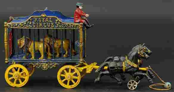 HUBLEY ROYAL CIRCUS LION CAGE WAGON