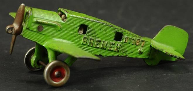 HUBLEY BREMEN JUNKERS AIRPLANE