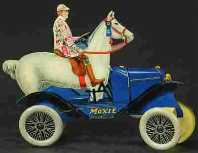 MOXIE HORSEMOBILE TIN LITHO TOY