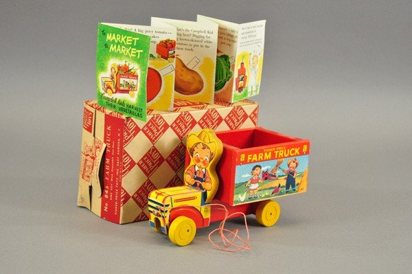 3719: FISHER-PRICE CAMPBELL KIDS TRUCK WITH BOX