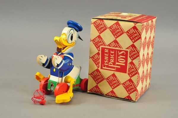 3721: FISHER-PRICE TALKING DONALD DUCK WITH BOX