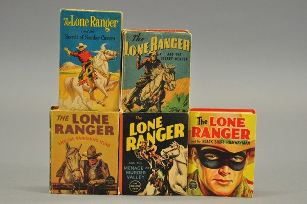 3727: FIVE LONE RANGER BIG LITTLE BOOKS