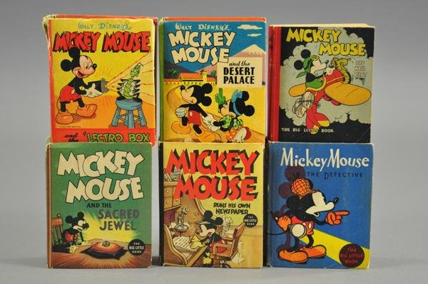 3728: GROUPING OF MICKEY MOUSE BIG LITTLE BOOKS