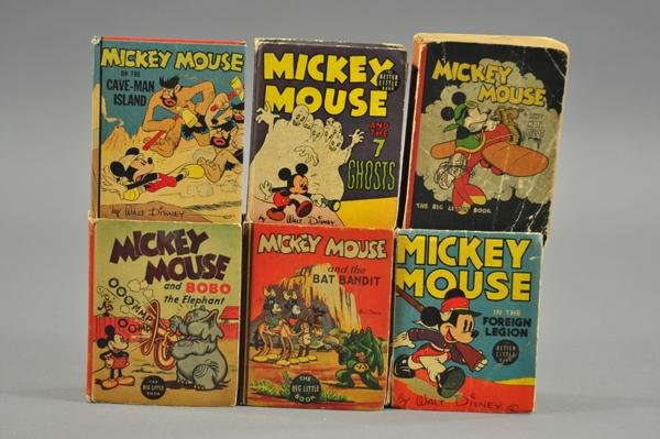 3729: SIX MICKEY MOUSE BIG LITTLE BOOKS