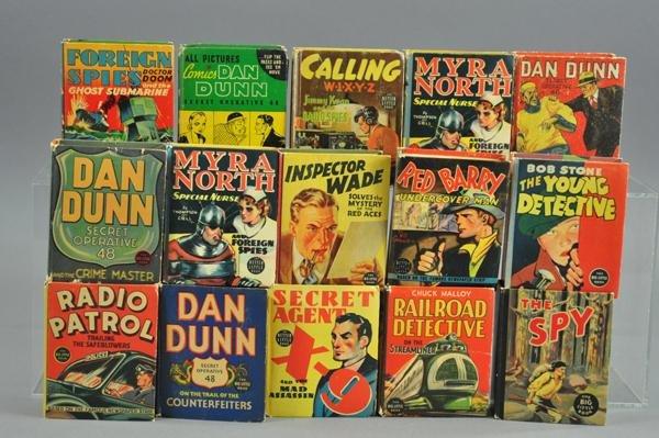 3730: FIFTEEN DETECTIVE BIG LITTLE BOOKS