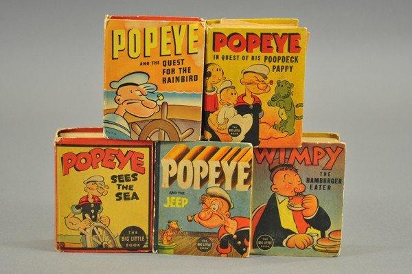 3739: FIVE POPEYE BIG LITTLE BOOKS