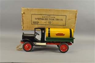 4778: KEYSTONE PACKARD SPRINKLER TANK TRUCK WITH BOX