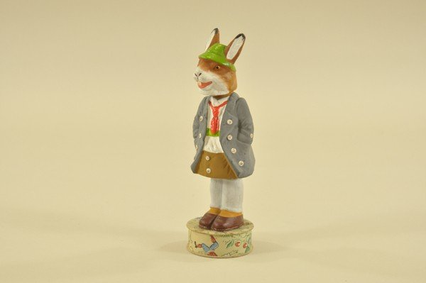 1453: GERMAN NODDER EASTER BUNNY CANDY CONTAINER