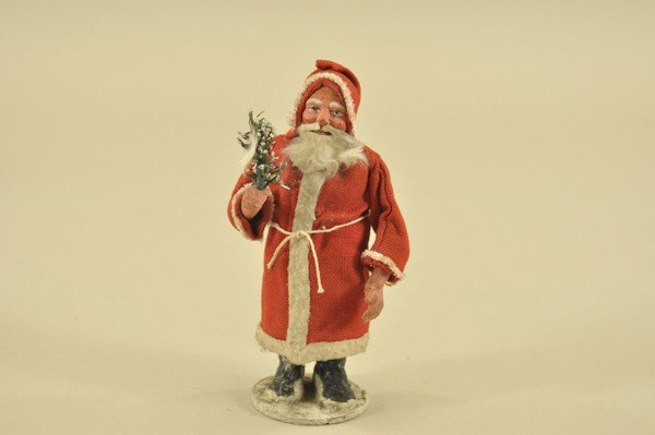 1465: RED ROBE SANTA CANDY CONTAINER