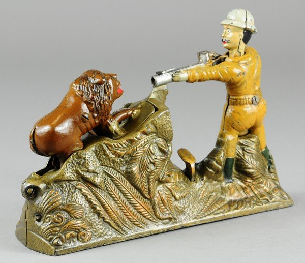 185: LION HUNTER MECHANICAL BANK