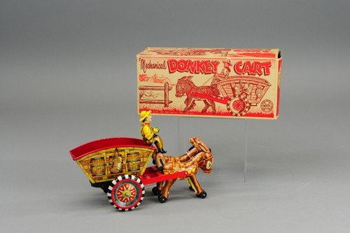 MARX BOXED DONKEY CART