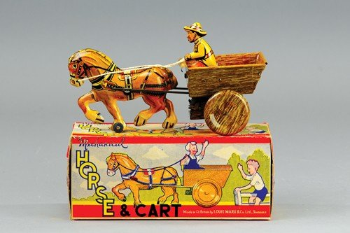 MARX HORSE & CART TOY