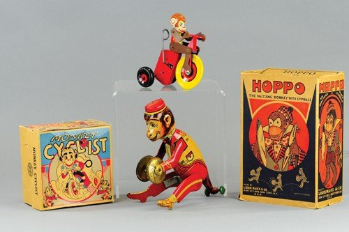 LOT OF TWO MARX MONKEY TOYS
