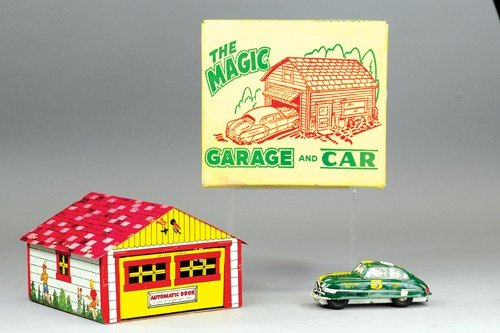 MARX MAGIC GARAGE AND DICK TRACY CAR