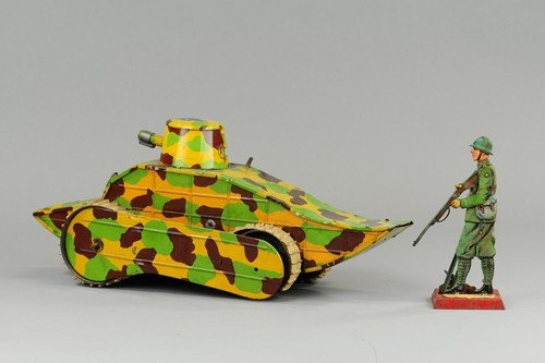 *MILITARY TANK AND SOLDIER
