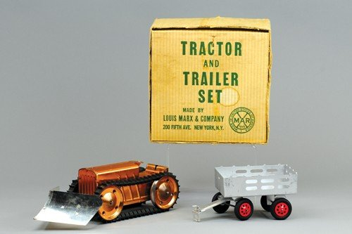 MARX BOXED TRACTOR AND TRAILER SET