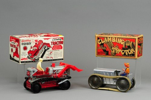 LOT OF TWO MARX BOXED FARM TRACTORS