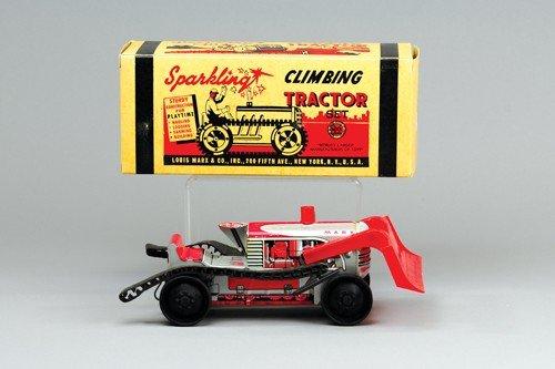 MARX BOXED CLIMBING TRACTOR SET
