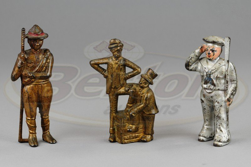 GROUPING OF FIGURAL STILL BANKS