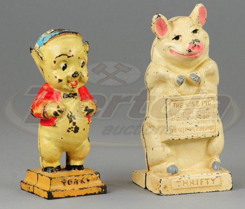 PORKY PIG AND WISE PIG STILL BANKS