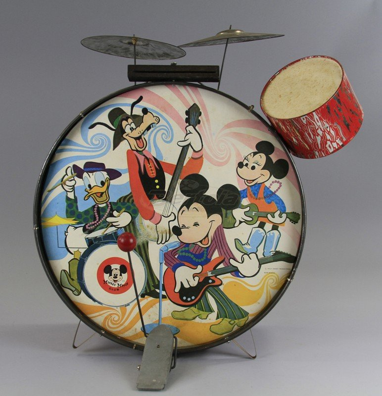 MICKEY MOUSE CHILD'S DRUM SET