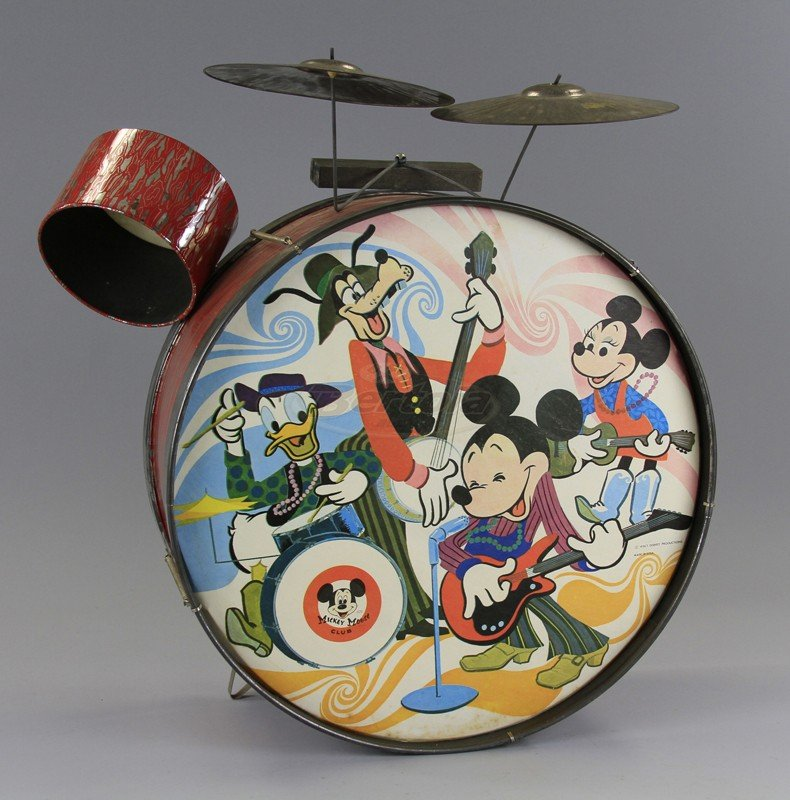 MICKEY MOUSE CHILD'S DRUM SET - 3