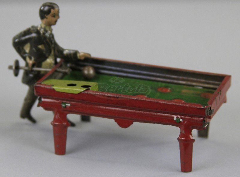 BILLIARDS PLAYER PENNY TOY