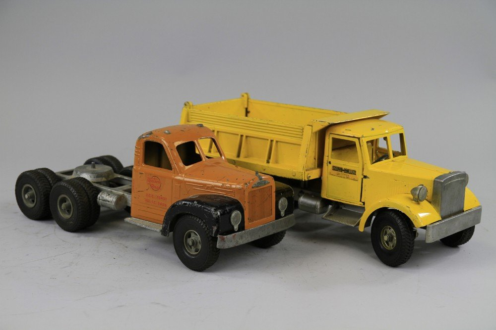 242: LOT OF TWO SMITH MILLER TOY TRUCKS