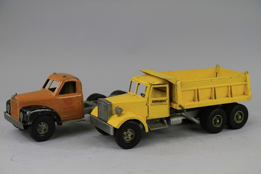 242: LOT OF TWO SMITH MILLER TOY TRUCKS - 2
