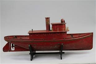 497: BUDDY 'L' RED TUGBOAT