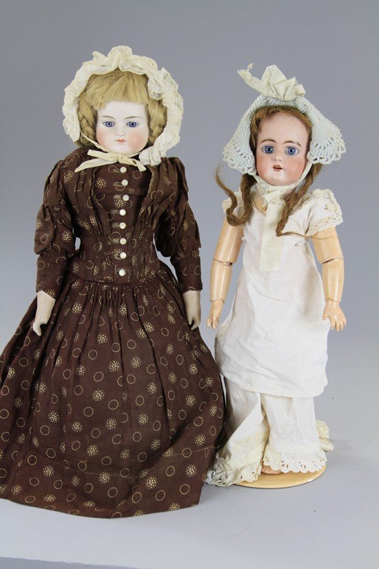 8: LOT OF TWO GERMAN BISQUE DOLLS