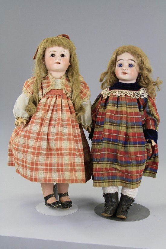 9: LOT OF TWO GERMAN BISQUE CHILD DOLLS