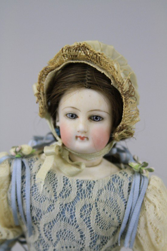 23: MINIATURE FRENCH BISQUE FASHION DOLL