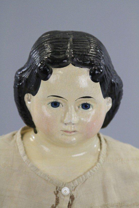 36: GREINIER PAPER MACHE HEAD DOLL