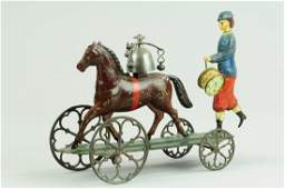 477: PATRIOTIC DRUMMER WITH HORSE BELL TOY