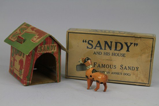 913: ORPHAN ANNIE'S DOG SANDY AND HIS HOUSE - 2