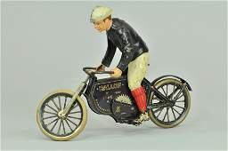 1457: LEHMANN HALLOH RIDER ON CYCLE