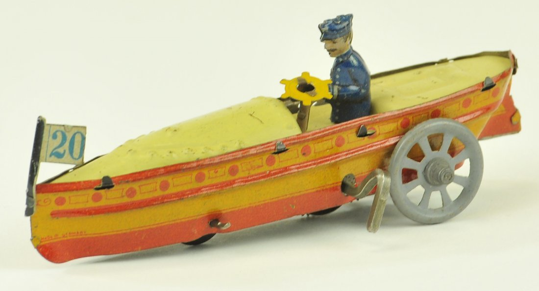 89: DISTLER SPEED BOAT PENNY TOY