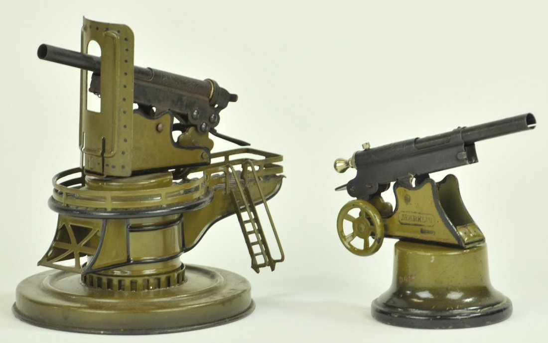 154: LOT OF TWO MARKLIN COSTAL GUNS