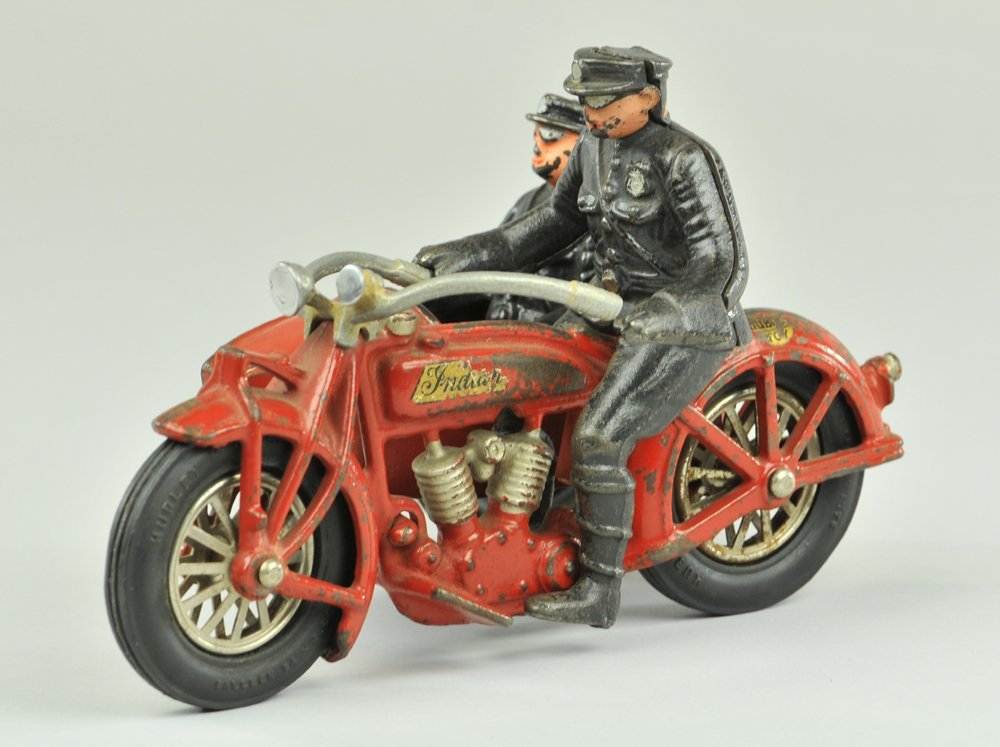 23: HUBLEY INDIAN MOTORCYCLE WITH SIDE CAR